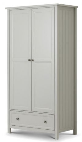 Maine Dove Grey 2 Door Combination Wardrobe by Julian Bowen Sale Now on at Your Price Furniture